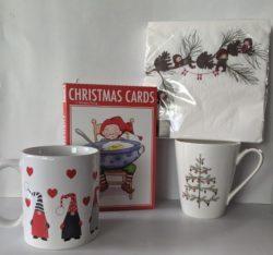 Christmas Mugs, Napkins & Cards